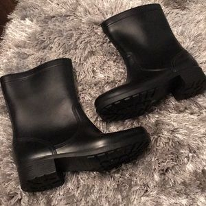 Black Rain Boots by Dirty Laundry